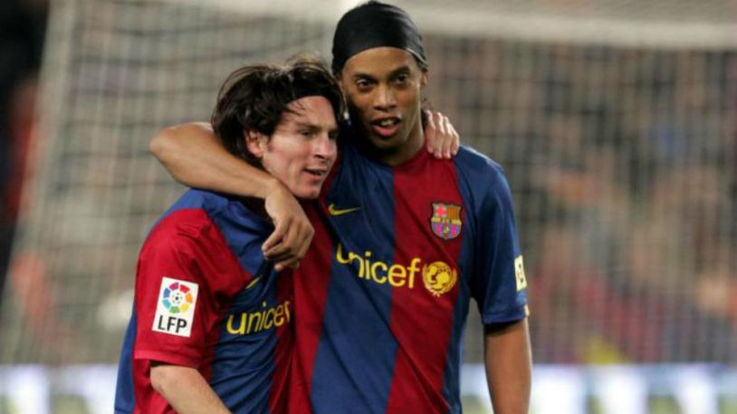 Brazilian legend Ronaldinho has asked Barcelona to keep the number 10 jersey in Messi's honor
