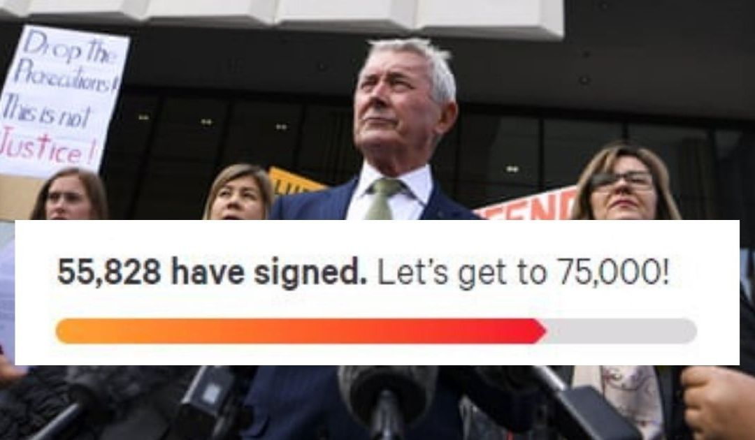 """Drop The Prosecutions"": Petition In Support Of Bernard Collaery and Witness K Hits 50,000 Signatures"