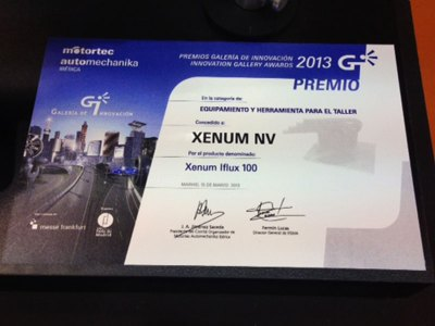 Xenum Motortec Award certificate