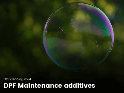Soap bubble representing a clean DPF
