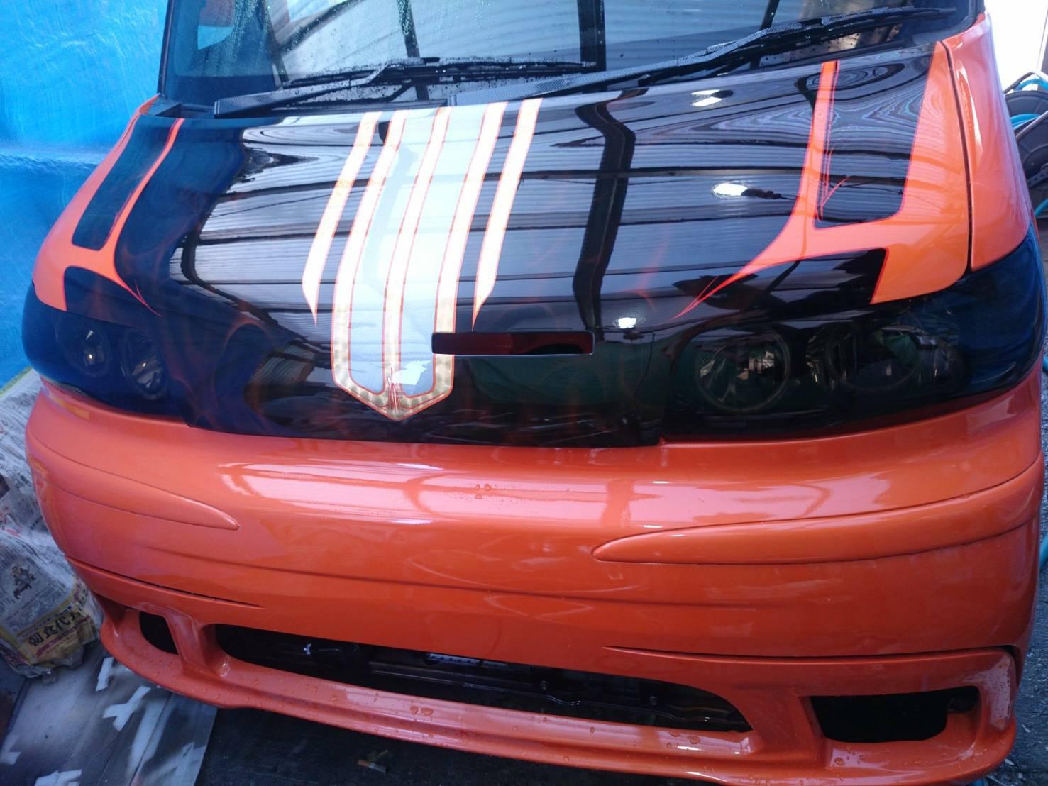 L360Sタントエアロ取り付け塗装ヘッドライト加工テール加工