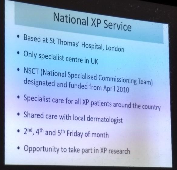 Características de funcionamiento del servicio nacional de XP en el Reino Unido
