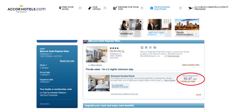 Accor Private Sales accor site comparison
