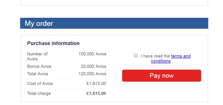 Buy Avios promo 2