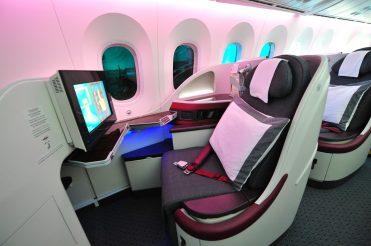 Qatar business class aisle seat
