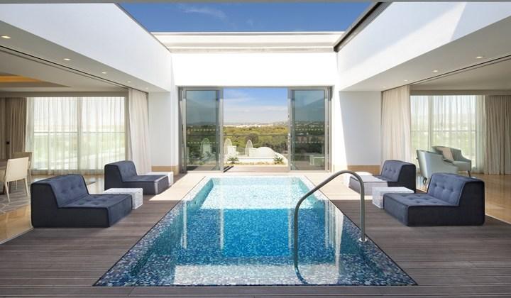 Presidential suite pool at the Conrad Algarve