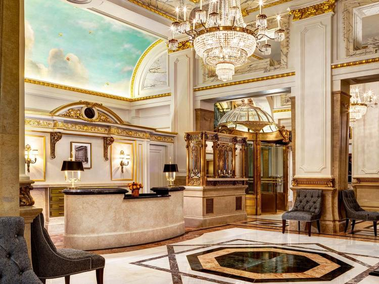 Lobby of the St Regis New York