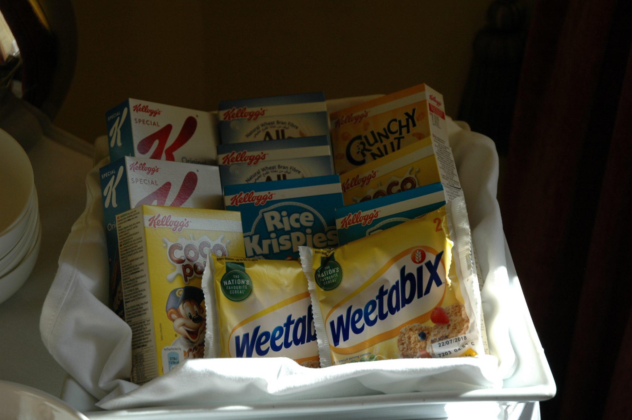 Selection of breakfast cereals