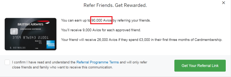 ba amex referral