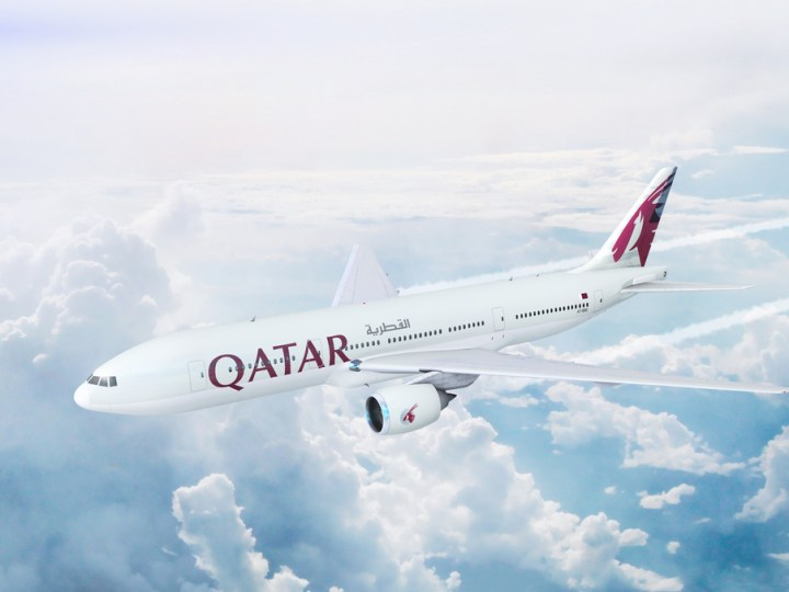 Qatar Airways Boeing 777 on the Doha-Auckland route