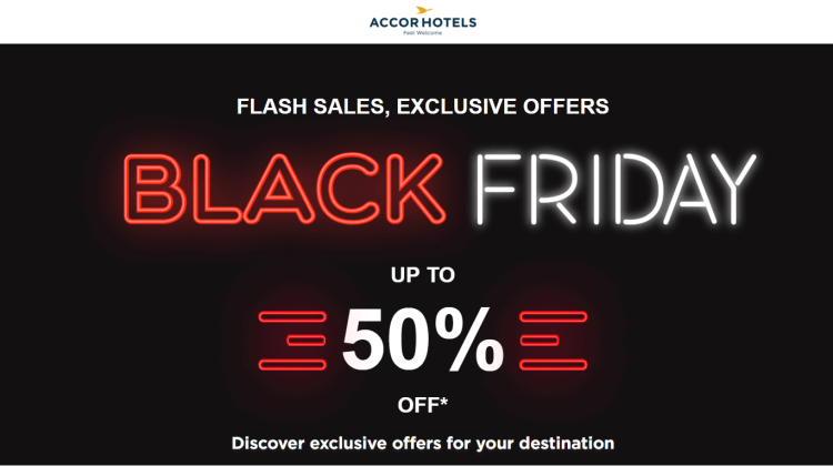 AccorHotels Black Friday 50% off