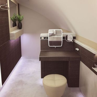 SQ A380 Suites bathroom 2