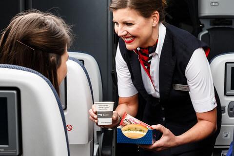 BA mid-flight snack