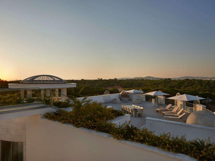 Outdoor terrace at the Conrad Algarve