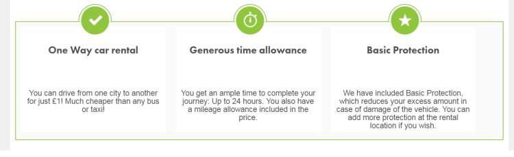 Europcar £1 rentals 1