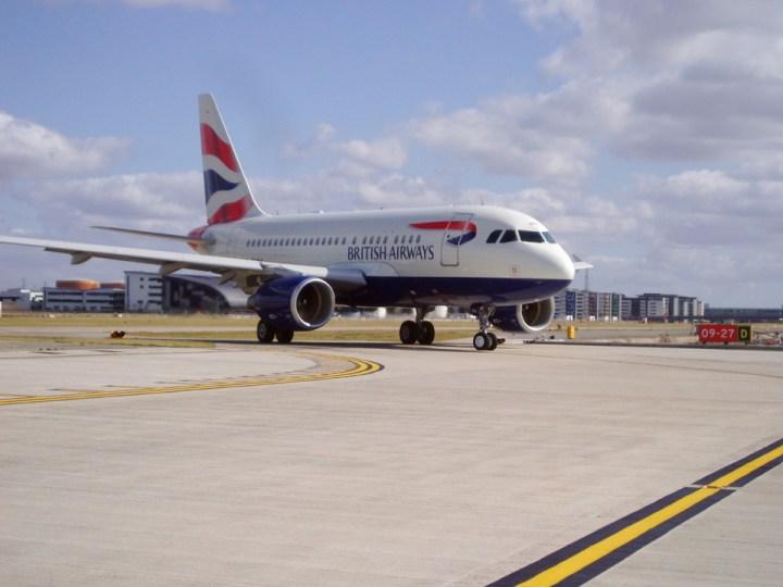 British Airways modified A318