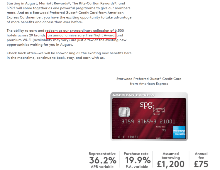 Future of the SPG UK Amex