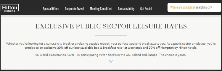 Get 30% off your hotel bookings with excellent Hilton Public