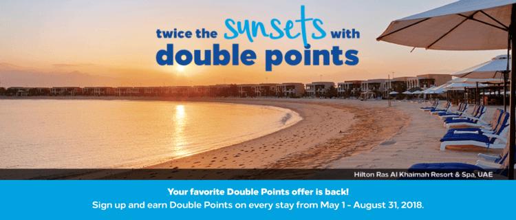 hilton double points promo q2 2018