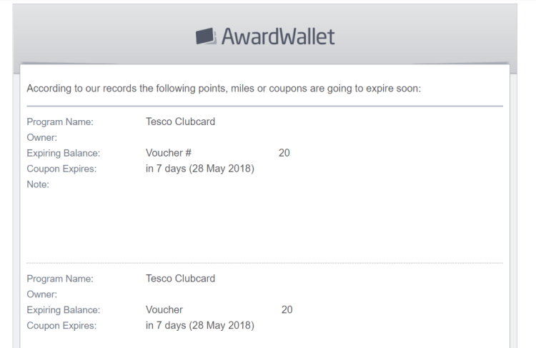 AwardWallet email expiry.png