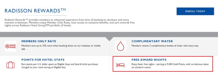 Radisson Rewards no blackout dates policy.png