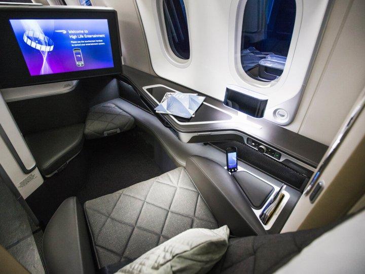 BA 787-9 First Class seat