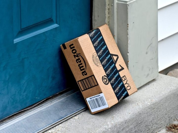 Amazon Prime package on doorstep