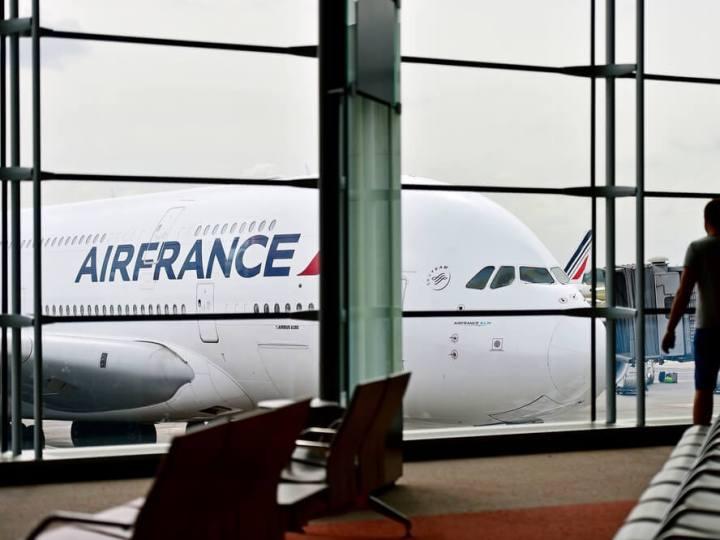 Air France planes at CDG airport