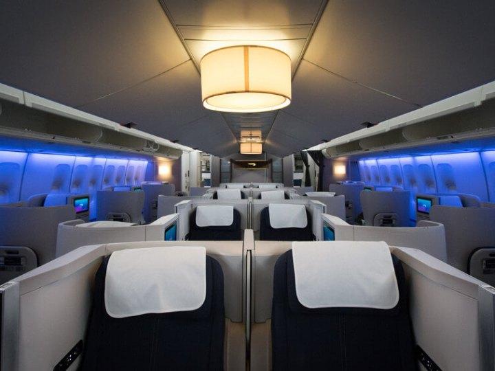 British Airways 747 Club World cabin