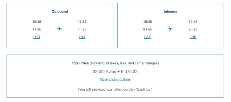 BA taxes example 2