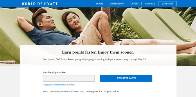 World of Hyatt - Q1+Q2 promo