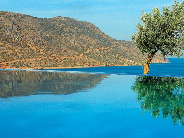 The Royal Blue Villa Private Pool at Blue Palace Resort, Crete