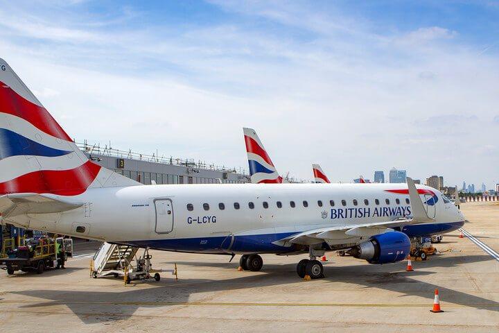 British Airways plane on tarmac