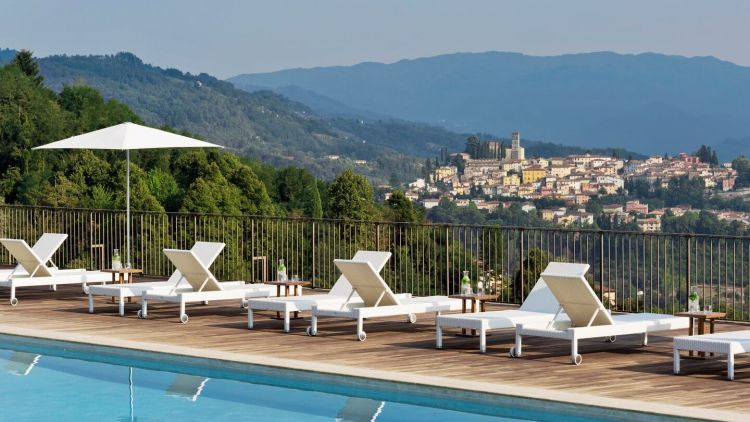 Outdoor pool at the Renaissance Tuscany Il Ciocco Resort & Spa
