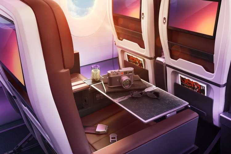 Virgin new Premium IFE screens