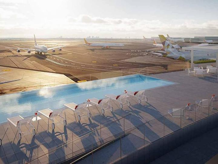 TWA Hotel JFK Rooftop Pool