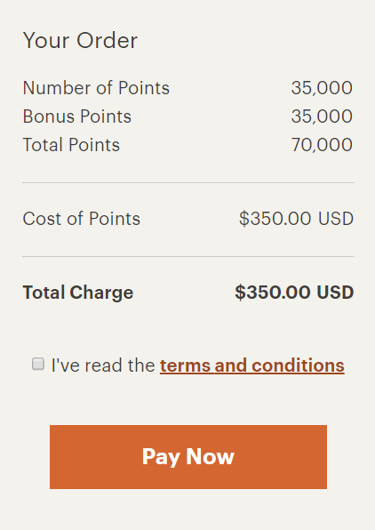 IHG buy points example