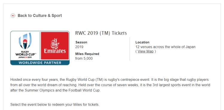 RWC Emirates tickets