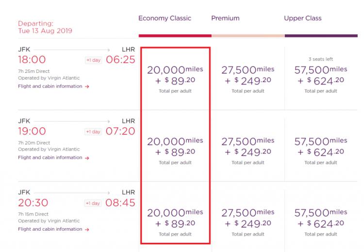 Virgin NYC cheaper economy taxes
