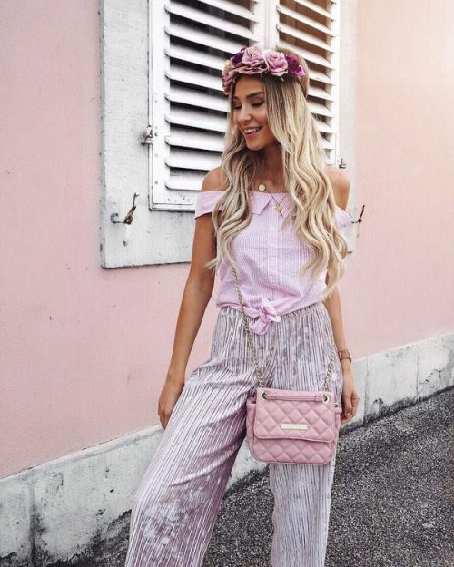 Stylish summer blouses 2020 with bare shoulders