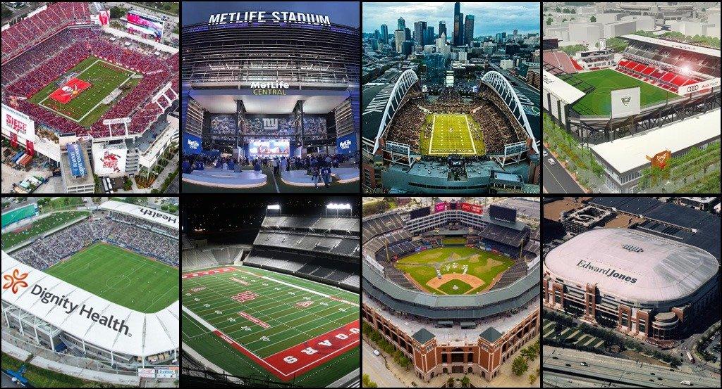 Getting To Know The Xfl Stadiums Xfl2k