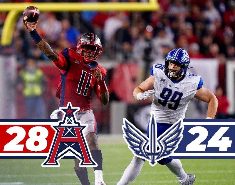 Houston Roughnecks Top St. Louis BattleHawks 28-24 in Close Match-up