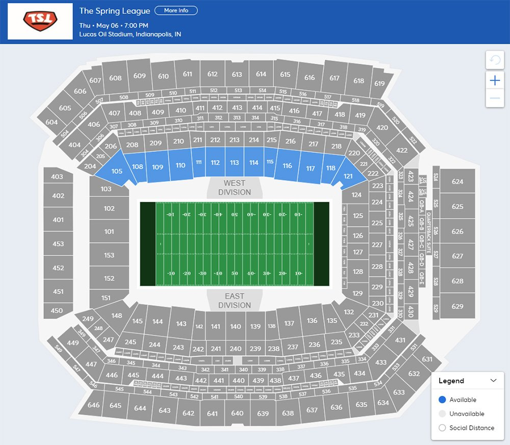 The Spring League Tickets   Indianapolis   Lucas Oil Stadium