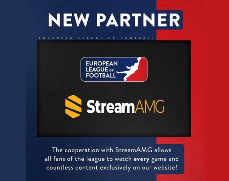 European League of Football Partners with StreamAMG for Streaming Services