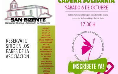 Cadena Solidaria en favor del X Frágil en Barakaldo