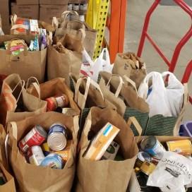 Donated food at PRISM