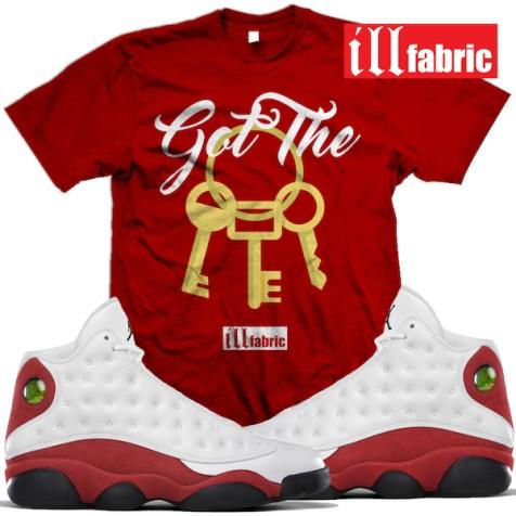 jordan-13-chicago-cherry-sneaker-tees-shirts-match