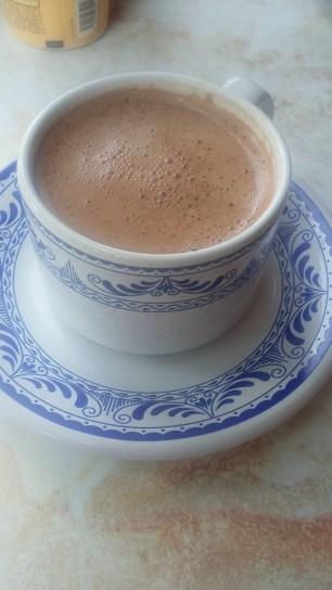 No puedes irte sin probar el chocolate caliente
