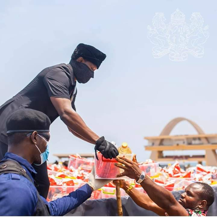 Freedom Jacob Caesar Shows Love To Ghanians In Need.
