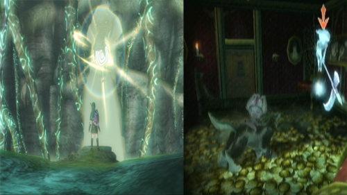 """Espíritus de luz y fantasmas o """"poes"""" en """"Twilight Princess""""."""
